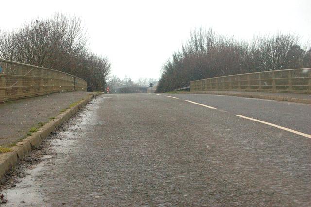 Bridge over M5 motorway near Colethrop Farm, Hardwicke, Glos