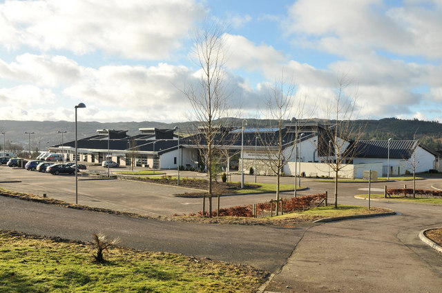 Mid Argyll Hospital and car parks