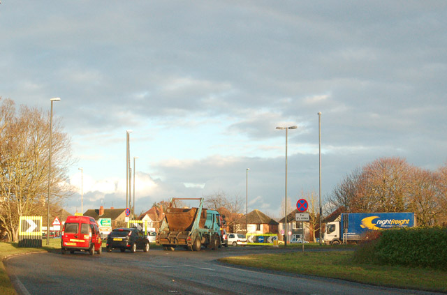 Cross Keys roundabout on A38, Hardwicke, Glos