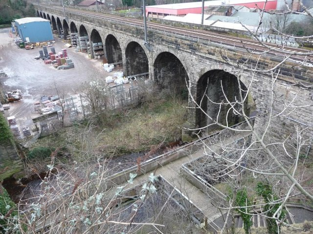 Railway viaduct crossing the Water of Leith