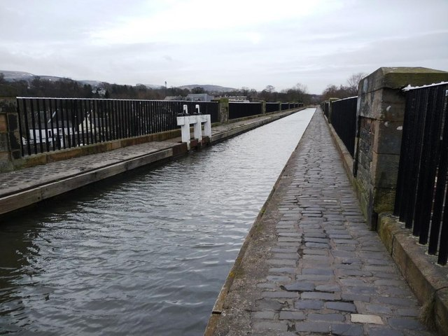 Eastern end of the Union Canal aqueduct at Slateford, built 1822