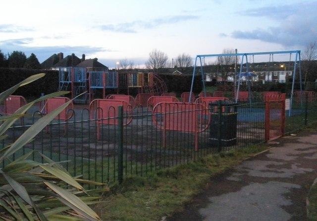 Play area in Portchester Park