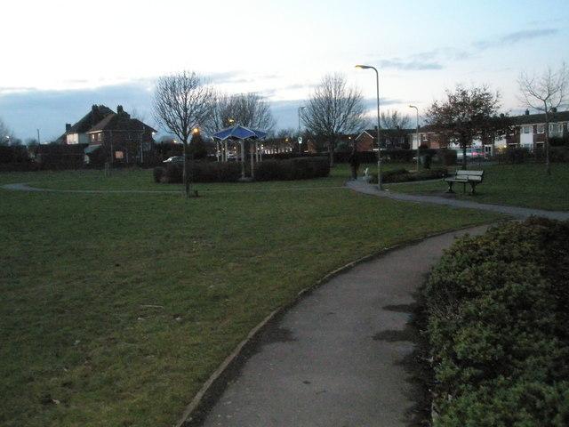 Twilight at Portchester Park