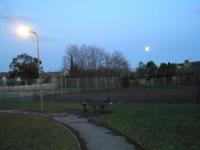 A moonlit Portchester Park