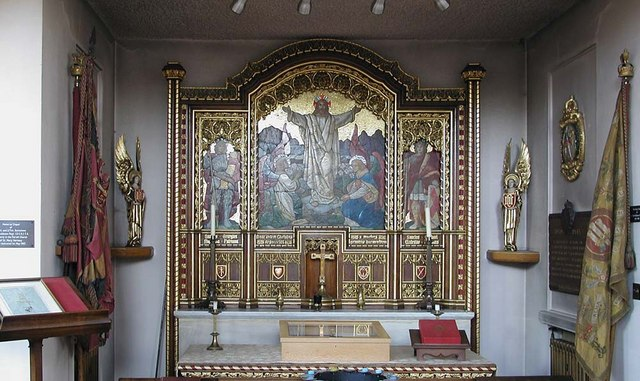 St Mary & St George, Hornsey, London N10 - Reredos