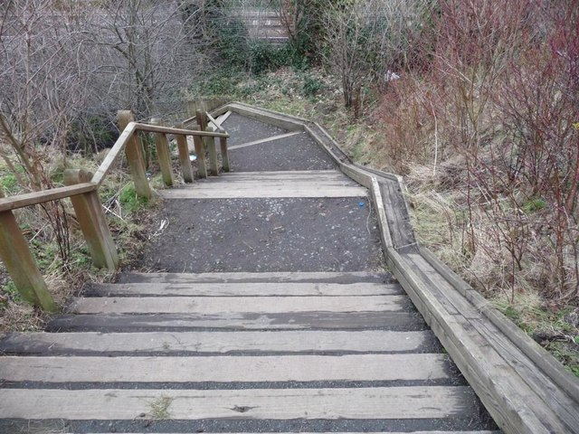 Steps with cycle incline
