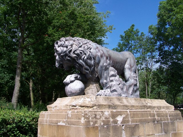 One of the Lions, Stanley Park, Blackpool