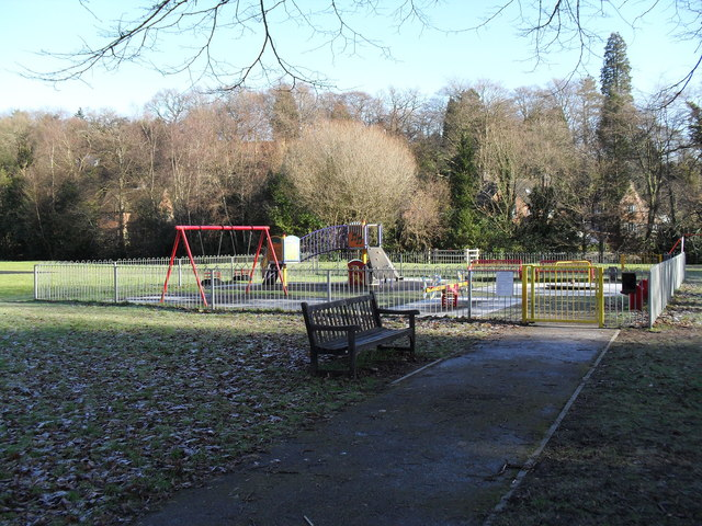 Seat by the playpark in Shottermill Rec