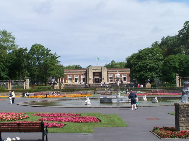 Italian Gardens, Lions and Cafe, Stanley Park, Blackpool