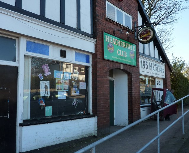 Conservative Club and hairdresser, Totley