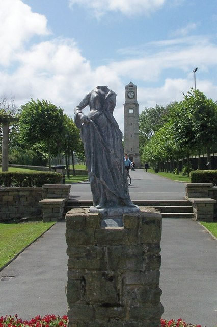 Headless (South) Statue and Clock Tower, Stanley Park, Blackpool