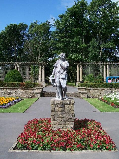 The West Statue, Italian Gardens, Stanley Park, Blackpool