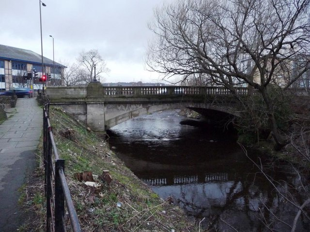 Bridge carrying Gorgie Road over the Water of Leith