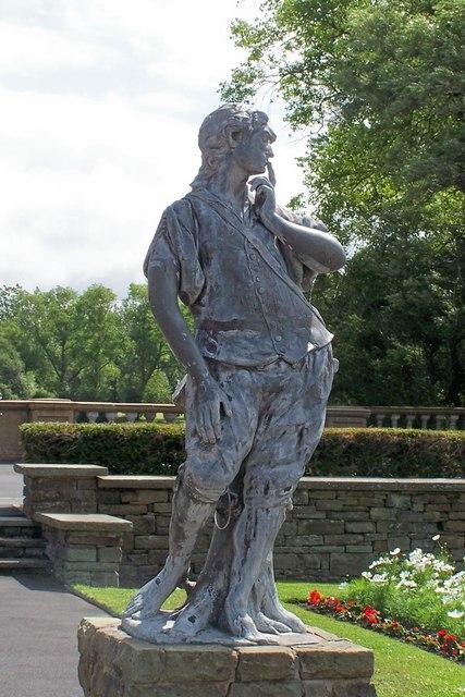 The East Statue, Italian Gardens, Stanley Park, Blackpool