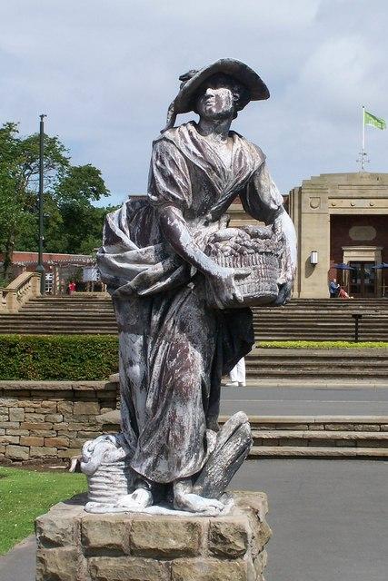 The North Statue, Italian Gardens, Stanley Park, Blackpool