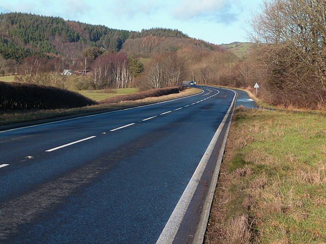 The A487 south west of Talybont