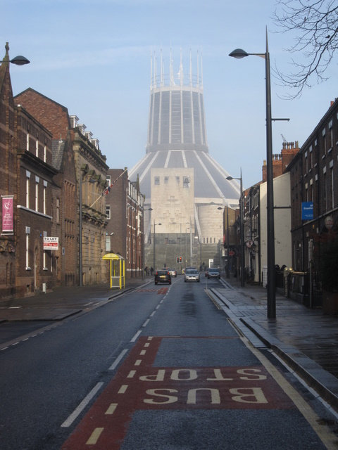 View to the Metropolitan Cathedral in Hope Street