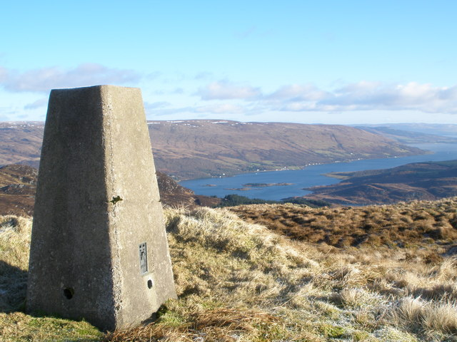 Trig Point on Beinn Capuill