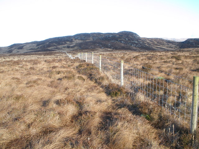 Fence line over the moor