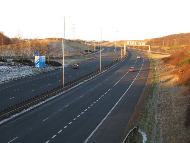 M74 at Junction 3