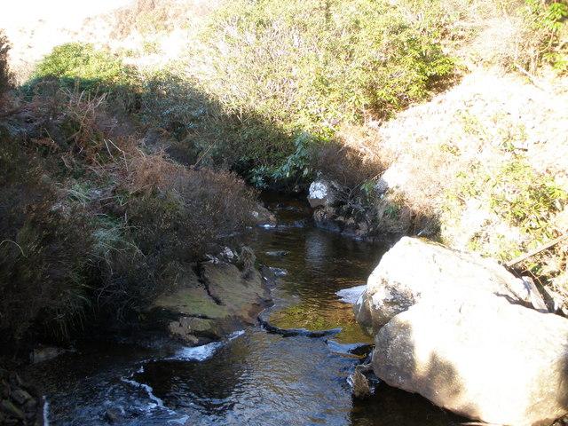 Allt Dubh which drains boggy ground below Beinn Capuill
