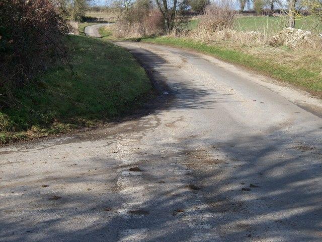 Junction of minor roads