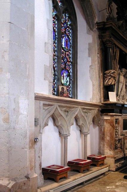 St Mary, Stanwell - Sedilia