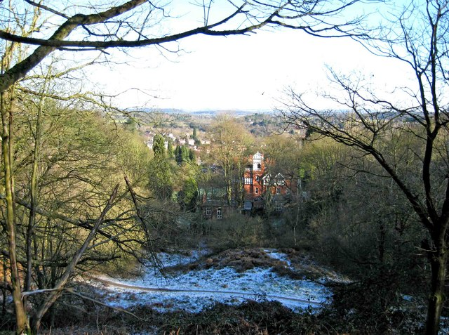 View from a path on Kinver Edge