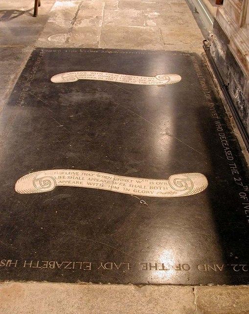 St Mary, Stanwell - Ledger slab