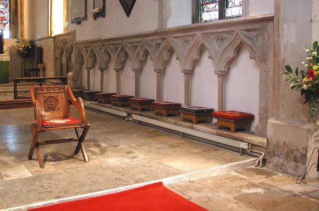 St Mary, Stanwell - Blind arcade