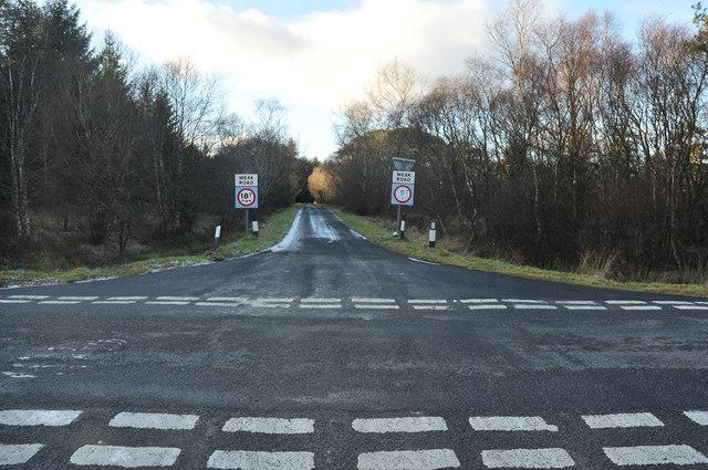 Roads crossing near the Moss