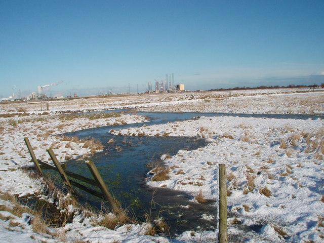 Stream near the brine fields