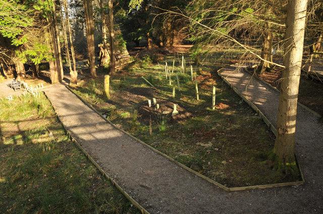 Path through Blarbuie Woodland