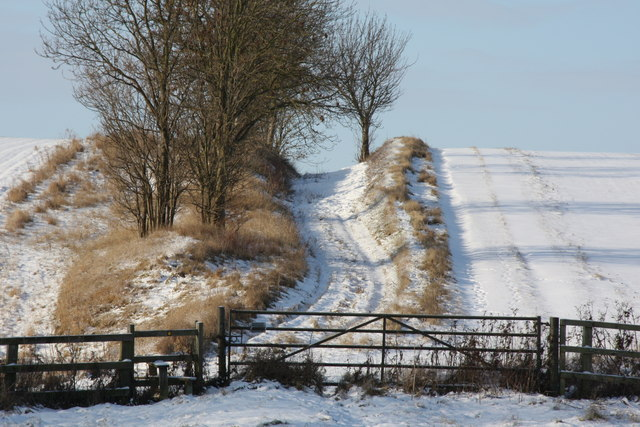 Public footpath/farm track to the west of Manor Farm, Great Eversden