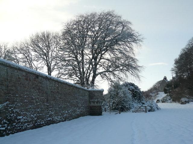 Garden wall at Dunrobin