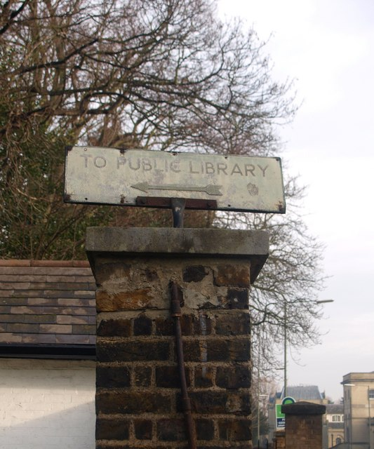 An overdue library sign