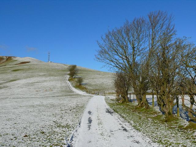 Lwybyr Glyndwr uwchben Llanbrynmair /Glyndwr's Way  above Llanbrynmair