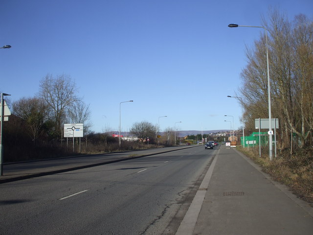 Queensway Meadows, approaching the Leeway roundabout, Newport