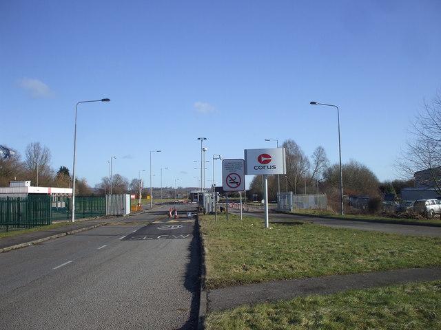 Entrance to Llanwern steelworks.