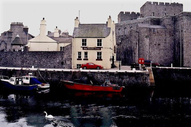 Castletown - Quay, Castle Arms, and Castle Rushen