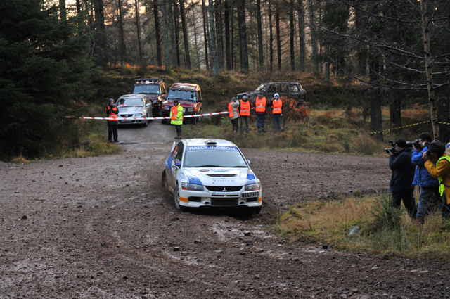 Rally car in Craigvinean Forest