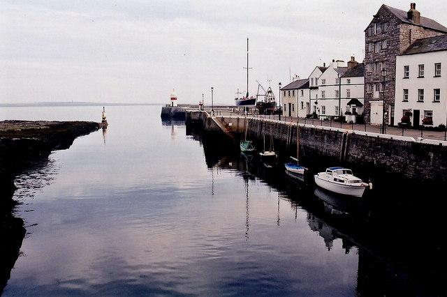Castletown - Harbour entrance and Quay