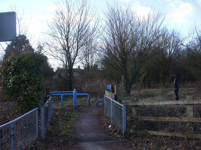 Celtic Way cycle track, Pye Corner, Newport