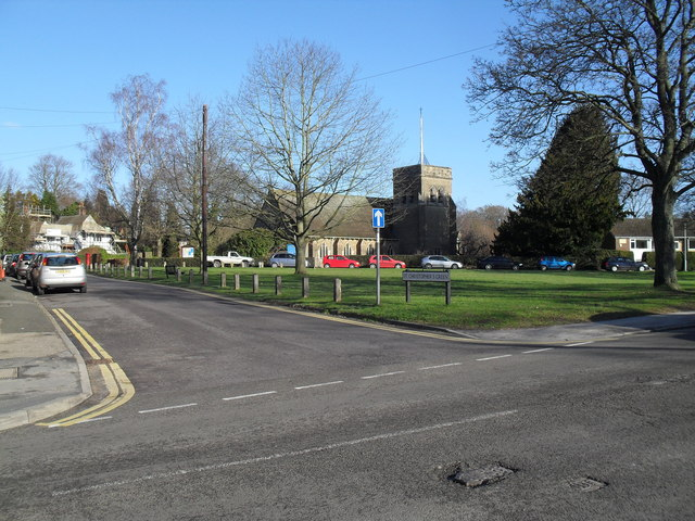 Looking from the B2131 towards Sr Christopher's Green