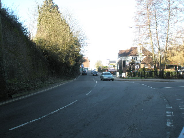 Approaching the junction of the B2131 with Weydown Road