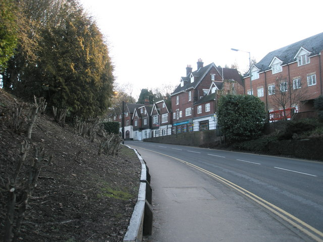 Looking up Lower Street towards Stricklands