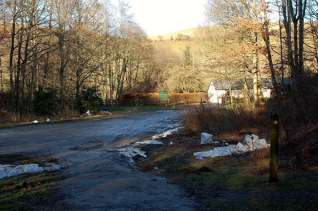 Forestry car park, Glenkinnon Burn