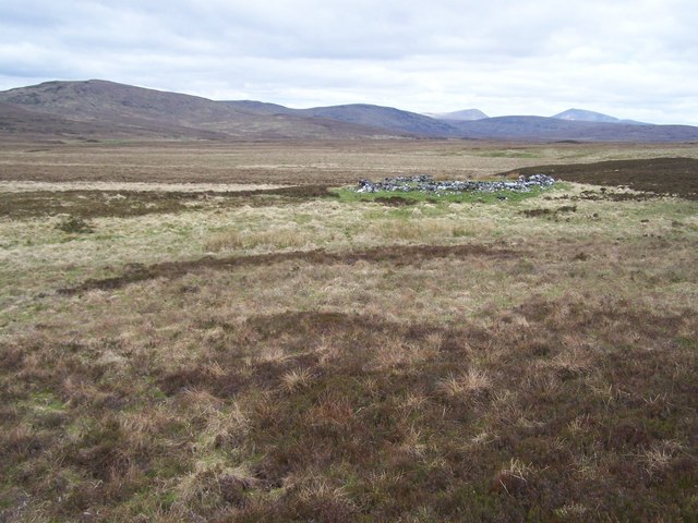 19th C sheepfold above the cleared township of Dail na Ceardach.