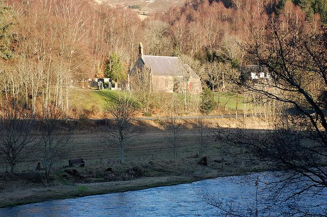 Caddonfoot Church across the River Tweed