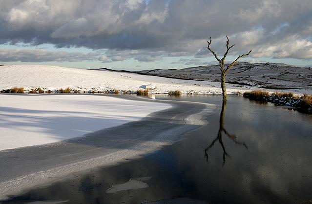 A pond near Glenskelly Burn